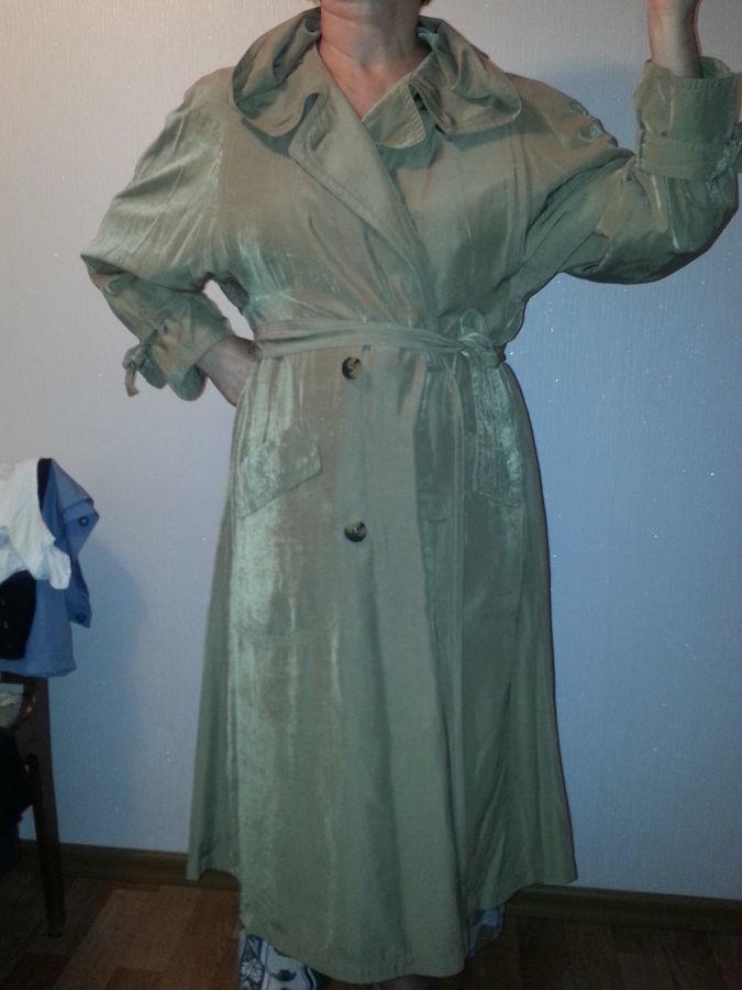 Фото - продам плащ шелковистый для элегантной леди