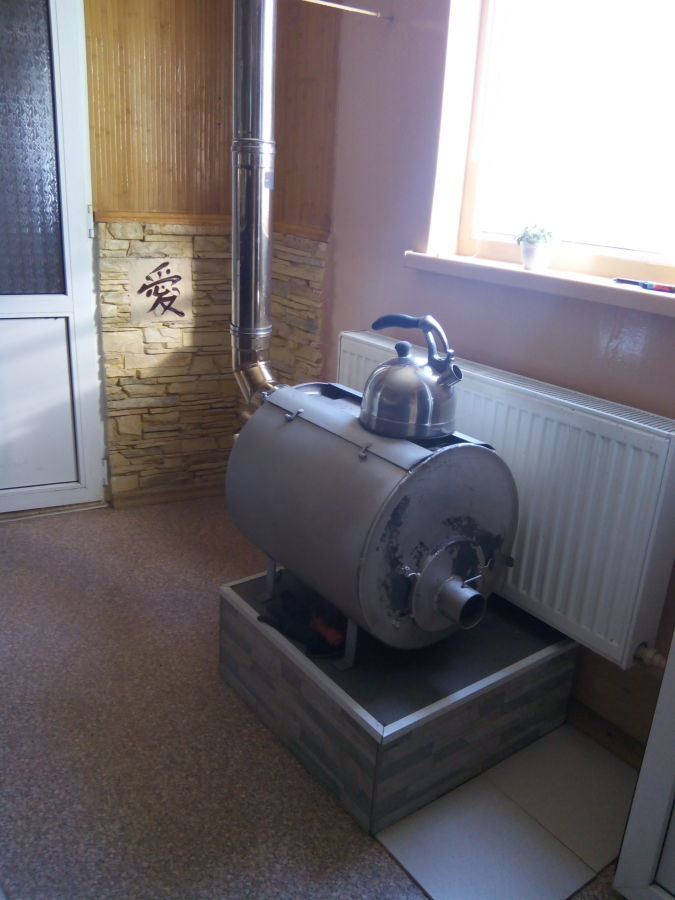 Фото 4 - Печь отопительная длительного горения, с водяным контуром. 5кВт