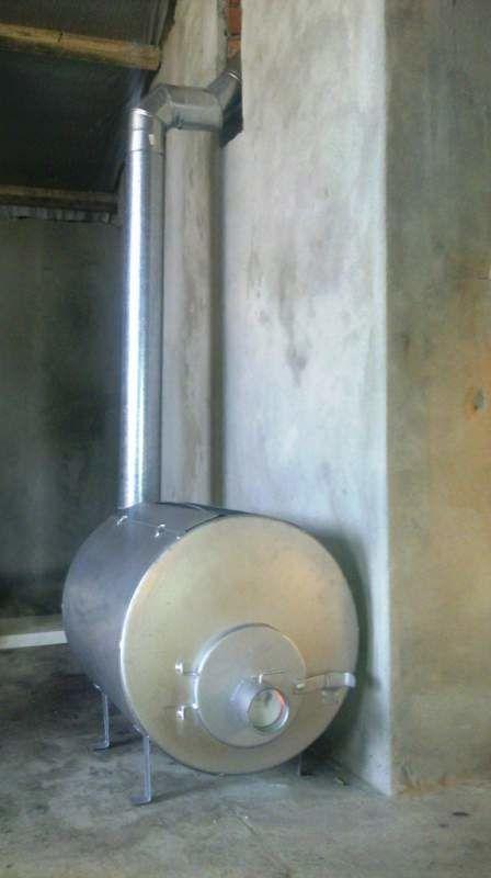 Фото 2 - Печь отопительная длительного горения, с водяным контуром. 5кВт