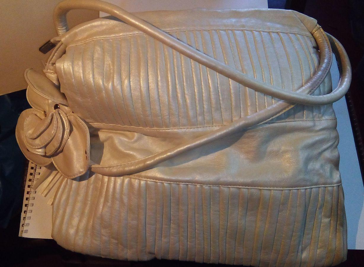 Новая сумка портфель белая роза