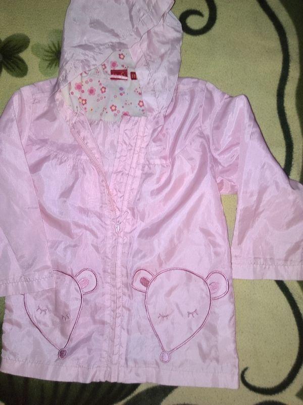 Фото - Плащ розовый, для девочки с капюшоном - Б/У