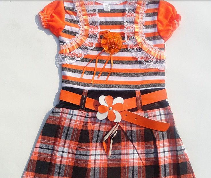 Фото - Платье для девочки с поясом - Новое