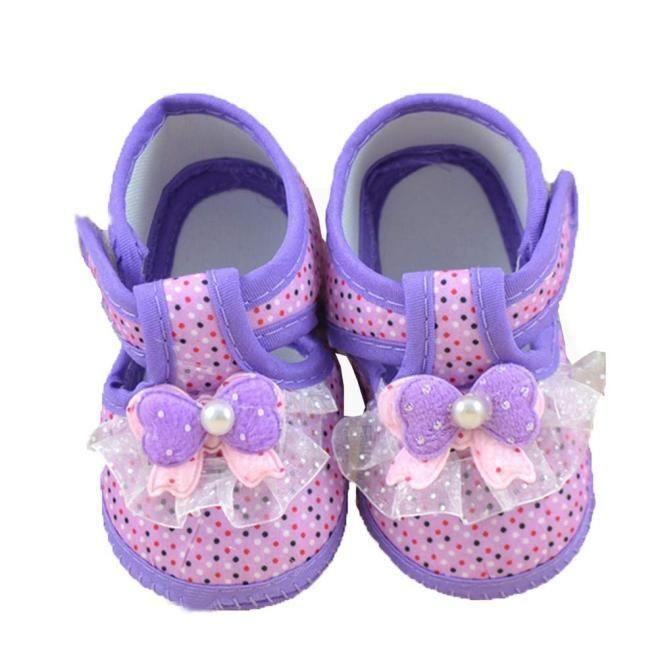 Фото 5 - Первая обувь для малышки с бантом - Новая