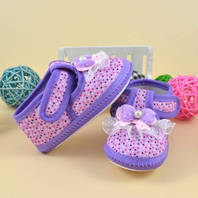 Фото 2 - Первая обувь для малышки с бантом - Новая