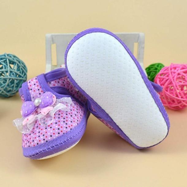 Фото 3 - Первая обувь для малышки с бантом - Новая