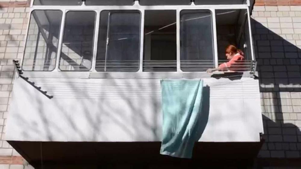 Сушка белья за балкон своими руками