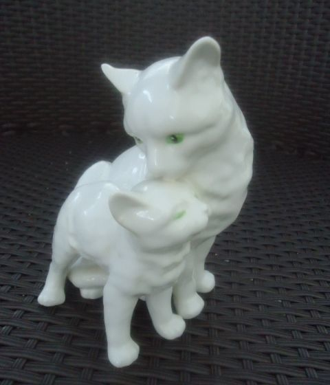 GOEBEL Белая кошка и котенок фигурка немецкий фарфор