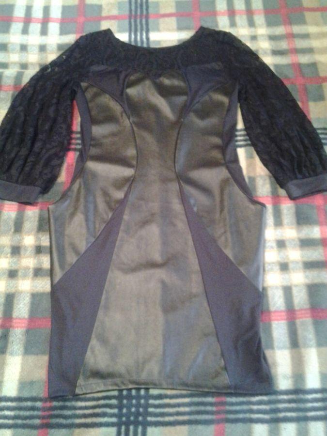 Новое платье из дайвинга с вставками из эко-кожи