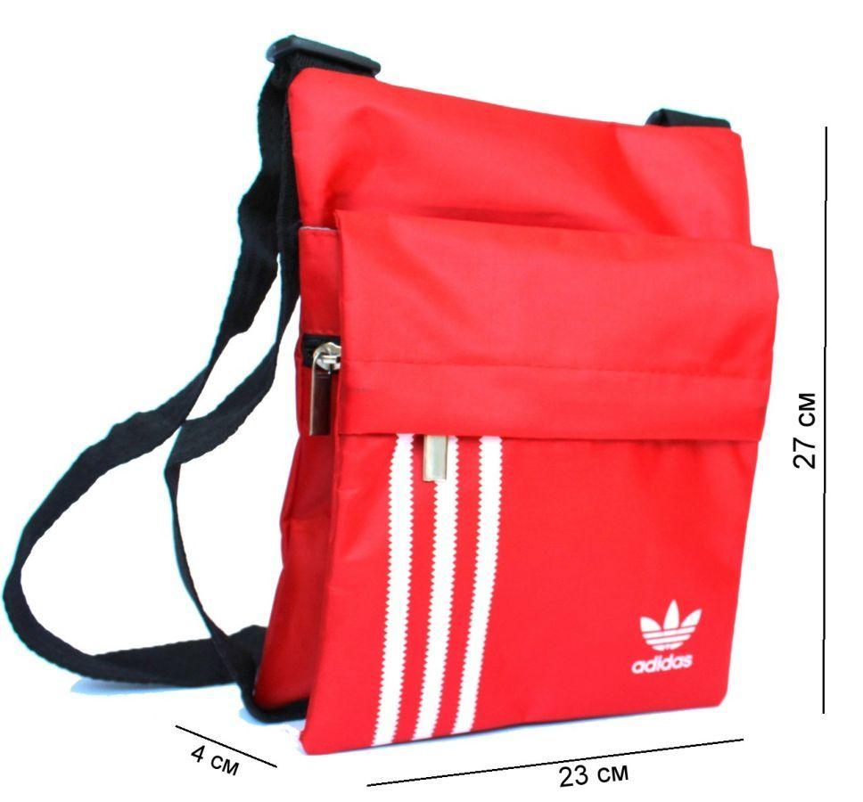 Спортивная сумка через плечо Adidas красная 076