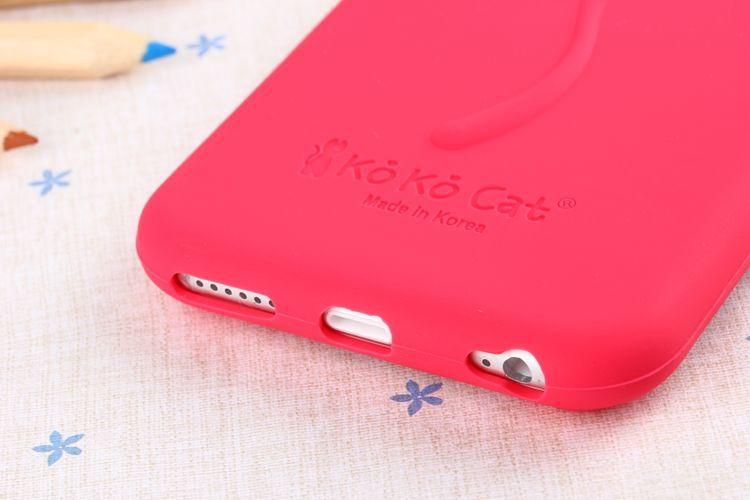 Фото 5 - Силиконовый чехол KoKo Cat для Iphone 6
