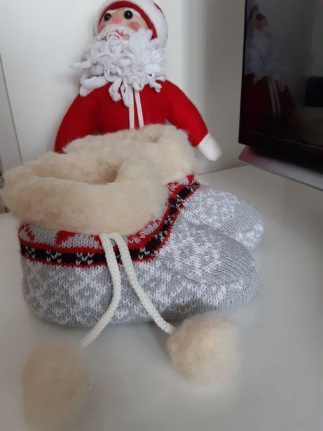 Пинетки тёплые на овчине новые