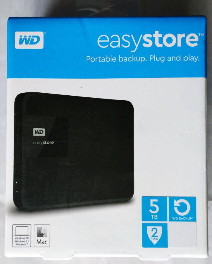 5 терабайт USB жесткий диск 5TB Western Digital Easystore НОВЫЙ