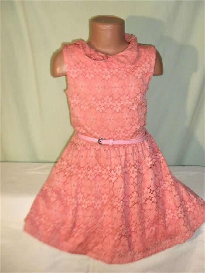 Кружевное платье на 8-9лет