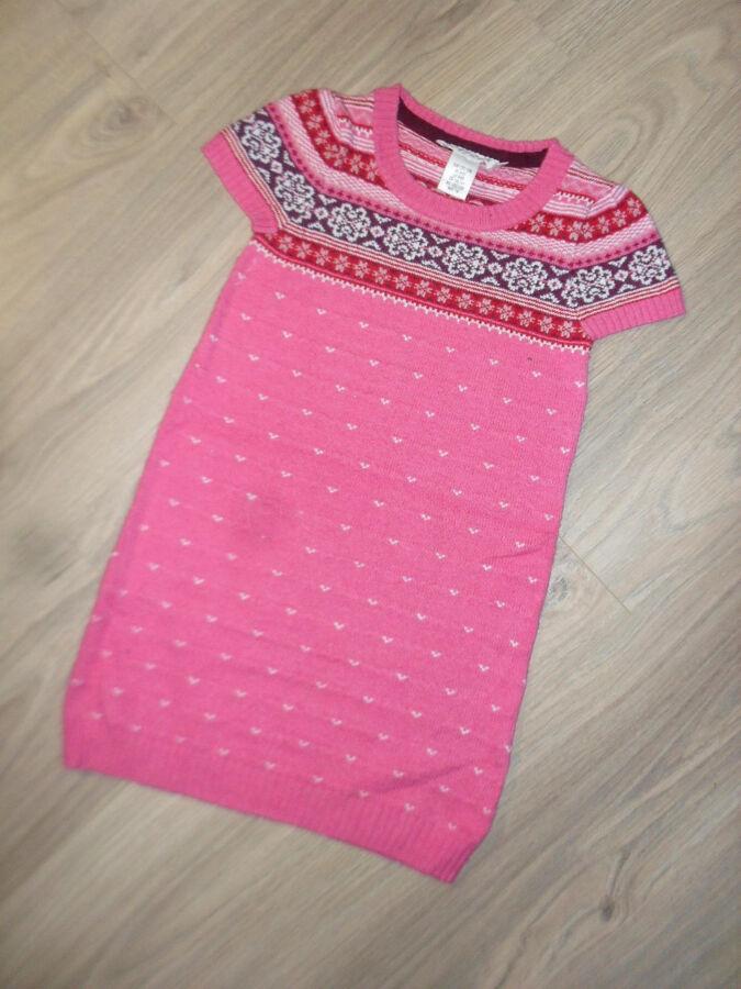 Вязанное платье - сарафан на 6-8лет