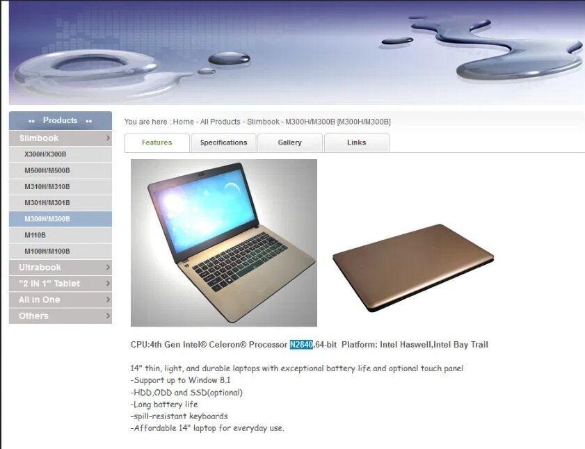 Ноутбук Turbo X M300B