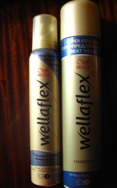 лак 400 мл пена для укладки волос веллафлекс Wellaflex 3, по 2/3. торг