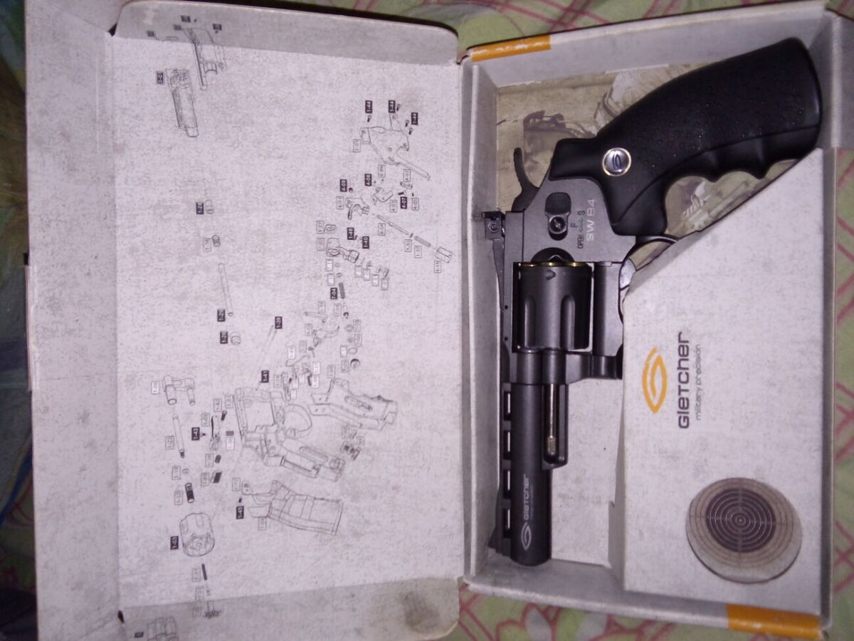 Пневматический пистолет Gletcher SW B4