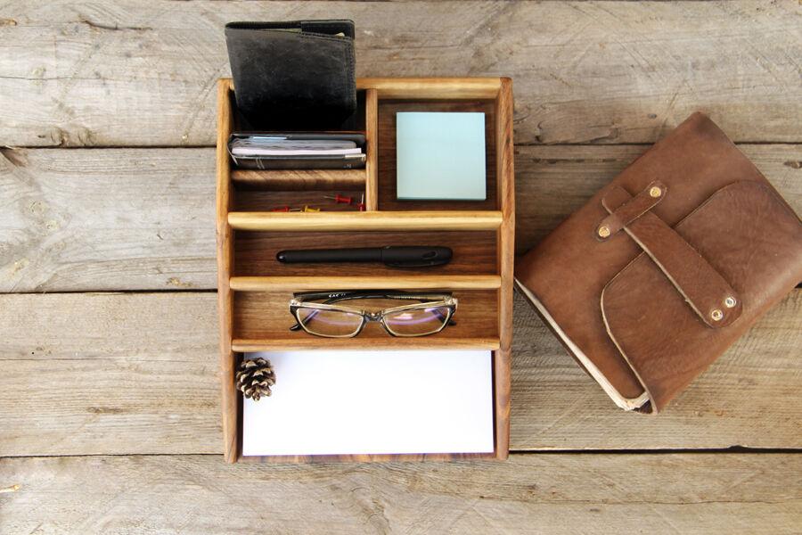Деревянный набор органайзер для канцелярских принадлежностей бумаги