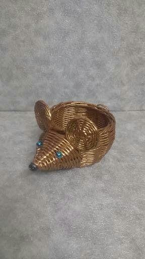 Мышка (крыса) шкатулка ручная работа