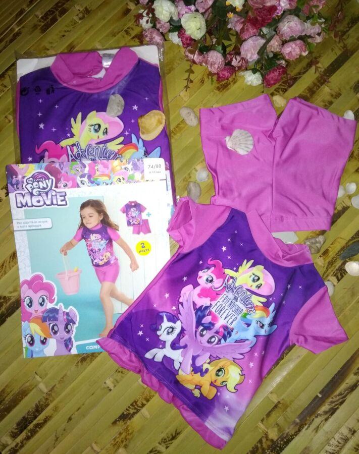 Купальный костюм с uv 50+ hasbro my little pony 74-80 и 98-104