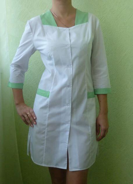 Медицинский халат Ромб. Ткань батист.