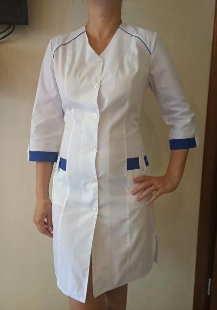 Медицинский халат Астра. Ткань батист.