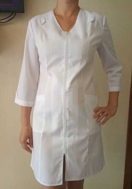 Медицинский халат Лилия. Ткань батист.