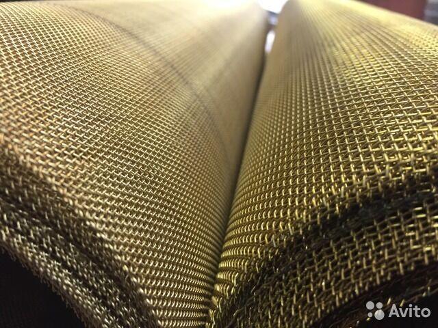 Сетка тканная латунная 0.450 х 0,2 мм