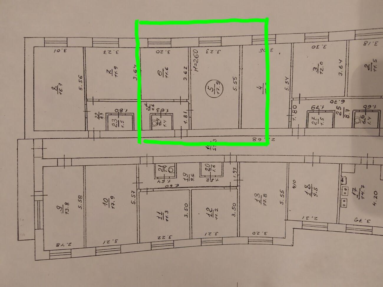 Продам гостинку м. ХТЗ, на шестом этаже