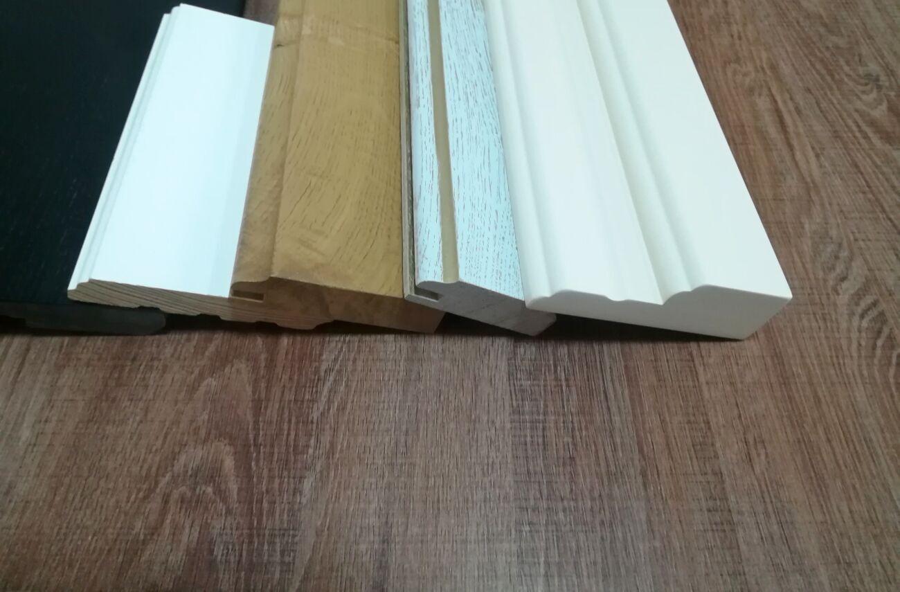 Плинтус МДФ крашеный, деревянный, шпонированный