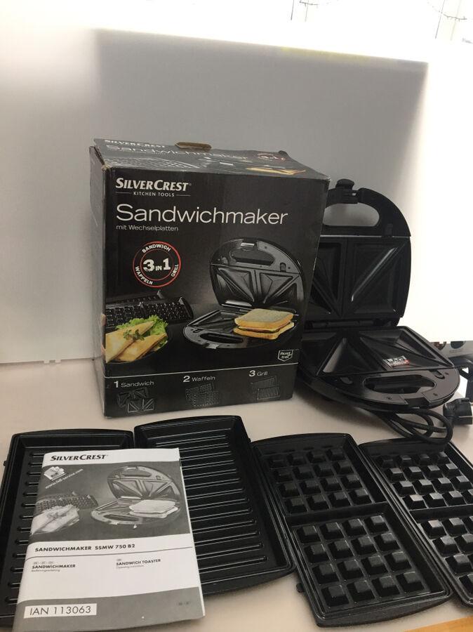 Бутербродниця, вафельниця, гриль SilverCrest 3in1