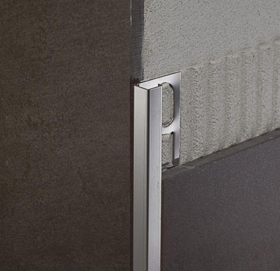 Угол алюминиевый для плитки квадратный брашированый 10*10мм