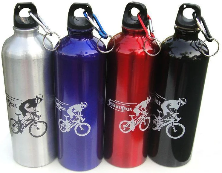 Фляга велосипедная спортивная алюминиевая 750 мл 0087