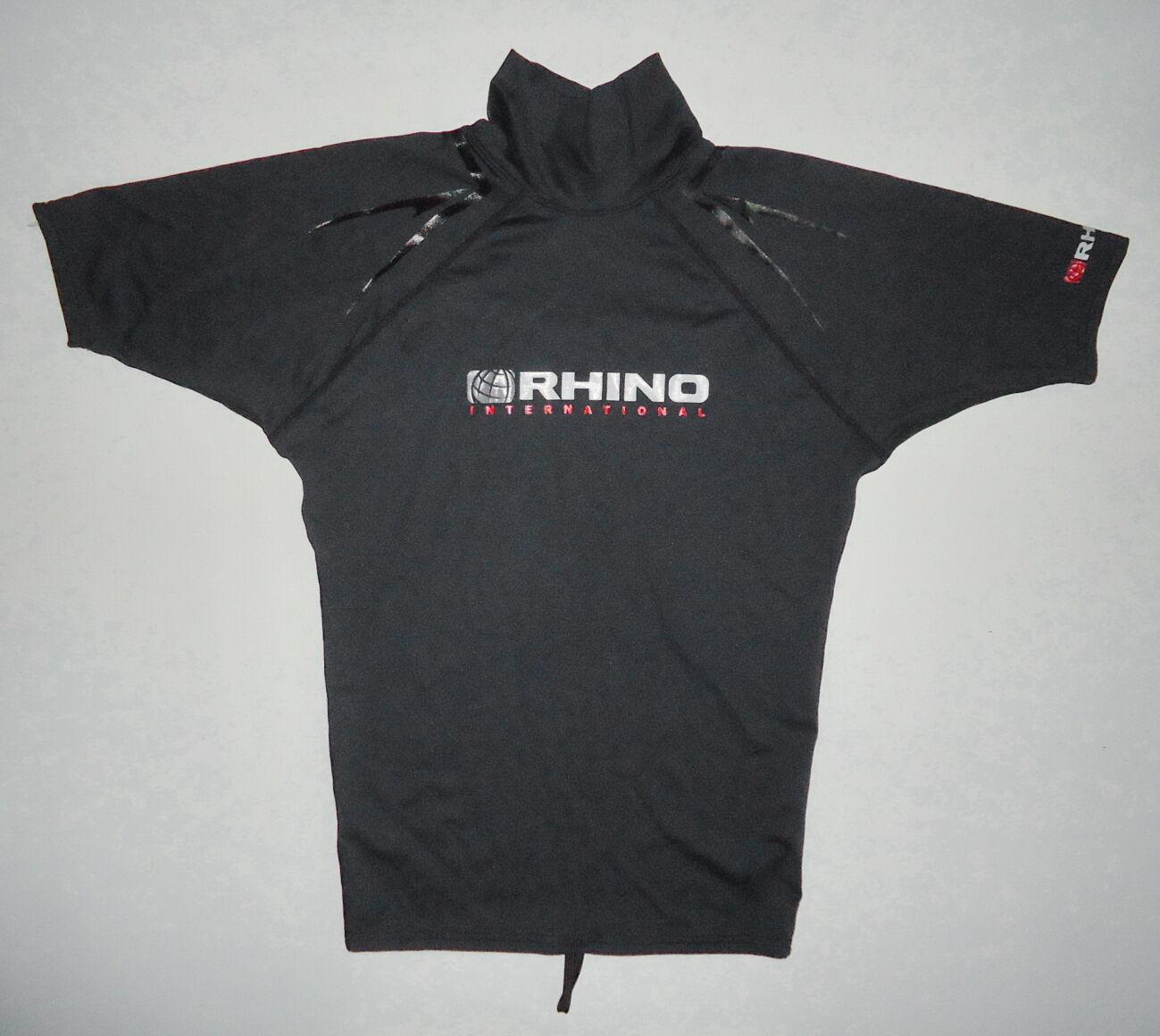 Гидрофутболка RHINO серфинг рафтинг черная дайвинг M