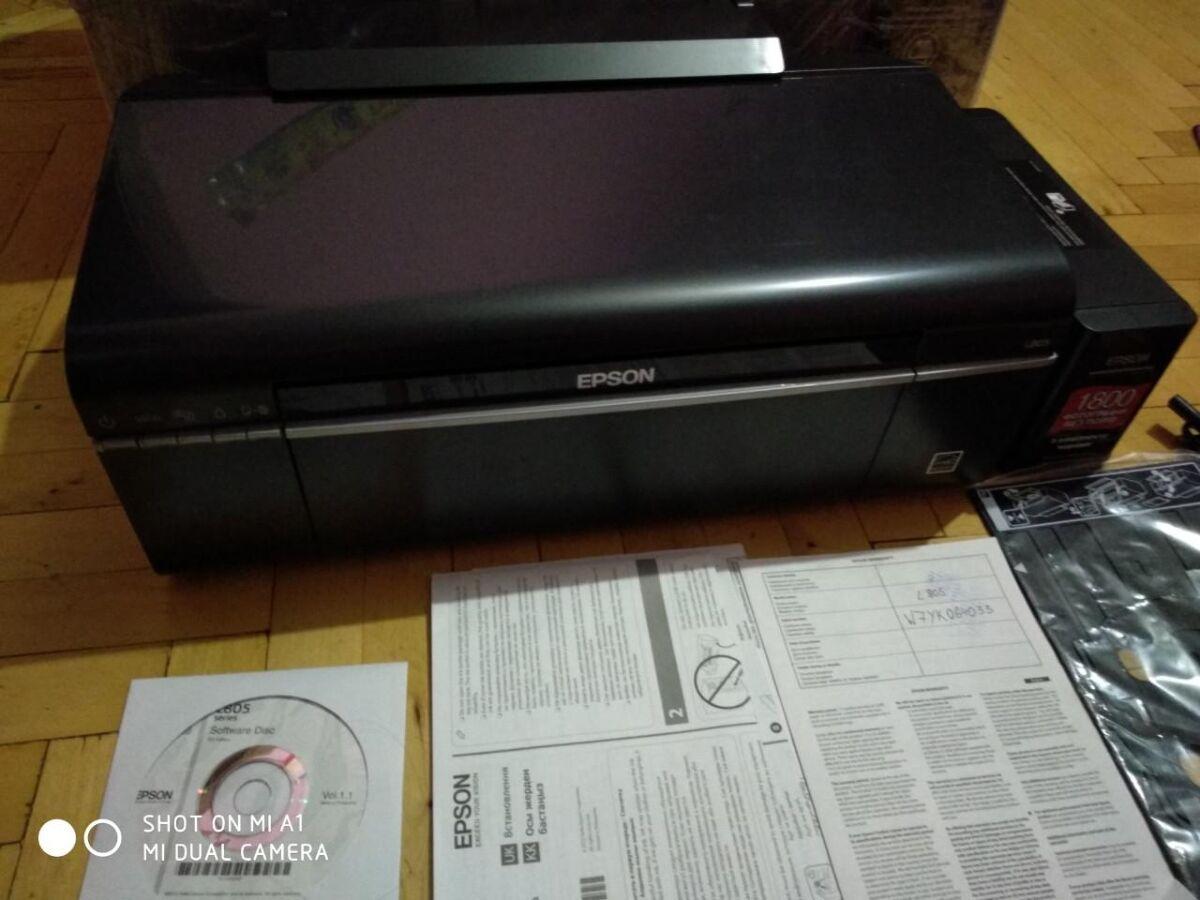 Принтер Epson L805 Струйный (C11CE86403), 6-ти цветный, Wi-Fi