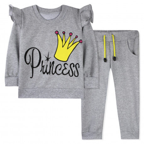 Костюм для девочки, серый. Принцесса