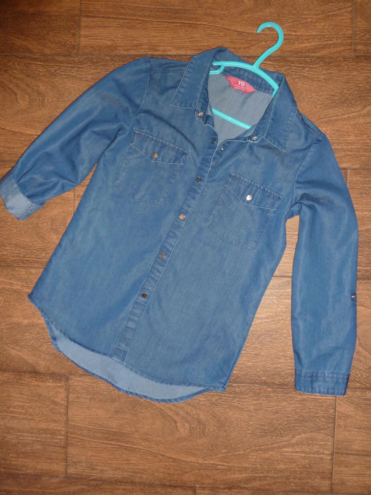 Джинсовая рубашка YD на 10-11 лет