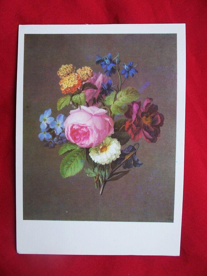 Открытка Иоганн Самуэль Арнольд 1766-1828. Букет с розой