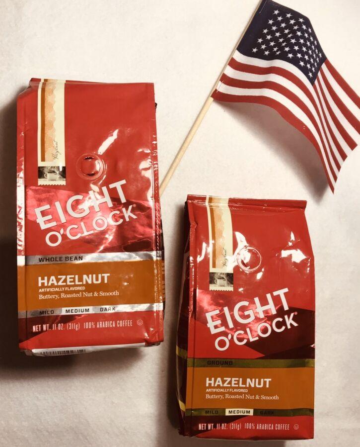 3ерновой молотый кофе Eight O´clock Hazelnut из USA, кава зерно з сша