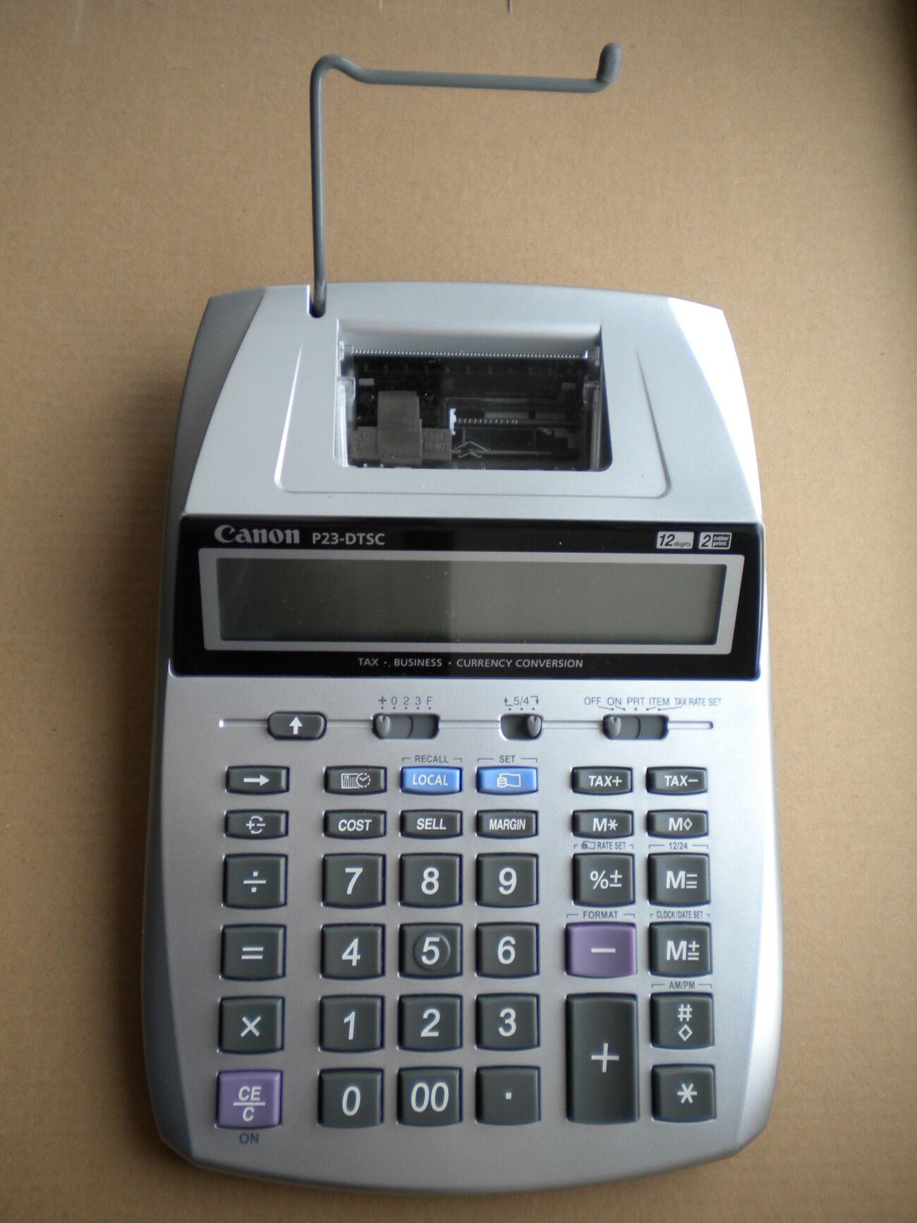 Калькулятор Canon P23-dtsc з принтером с печатью