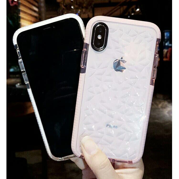 Прозрачный противоударный силиконовый алмазный чехол 3D для iPhone 6/7
