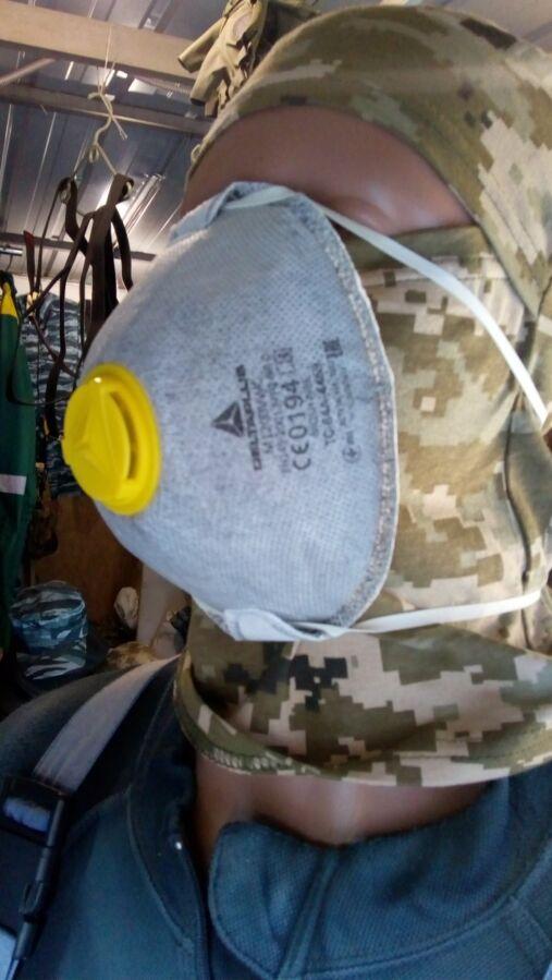 Защитная маска - респиратор, Украина