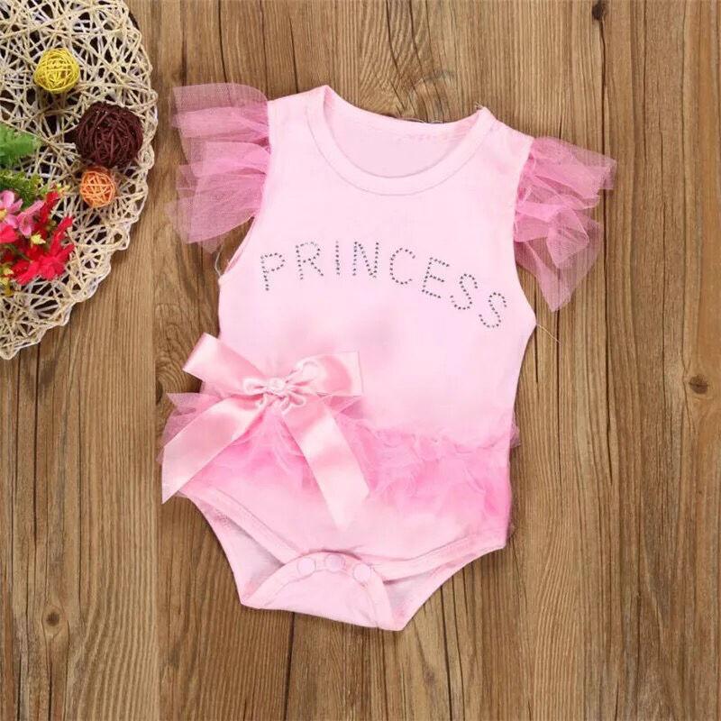 Нарядный Боди с Фатином Розовый для Новорождённых девочек от 0-24 м