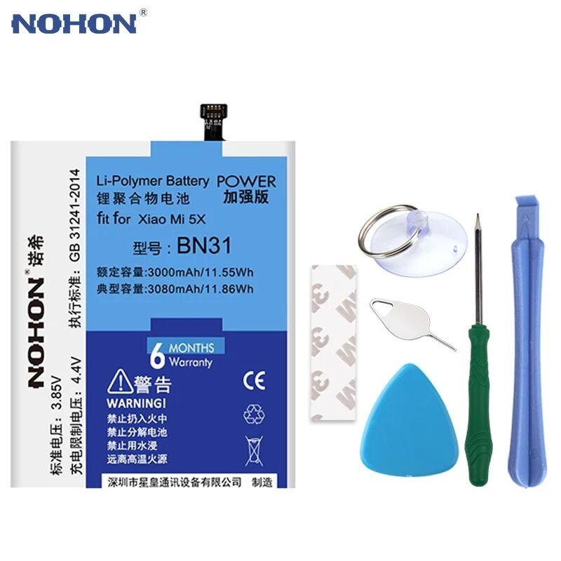 Аккумуляторная батарея NOHON BN31 для Xiaomi Redmi Note 5A mi5x, miA1