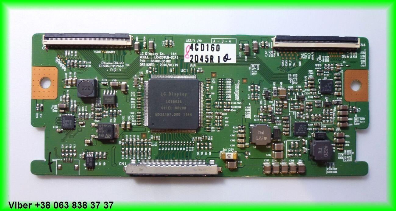 Плата T-con Lc420wun-sca1, 6870c-0310c Lg 42lk430