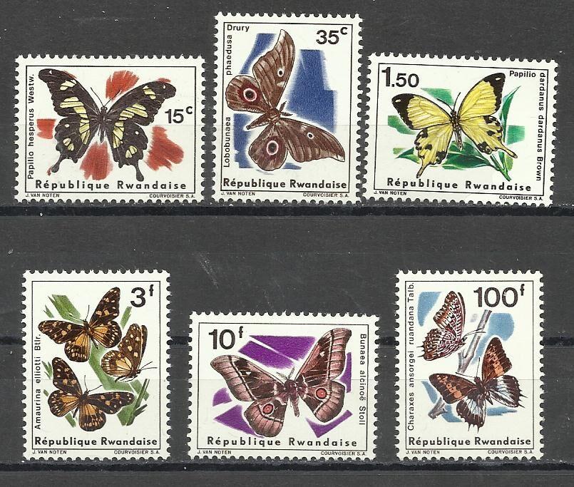 Продам марки Руанды 1966 Фауна