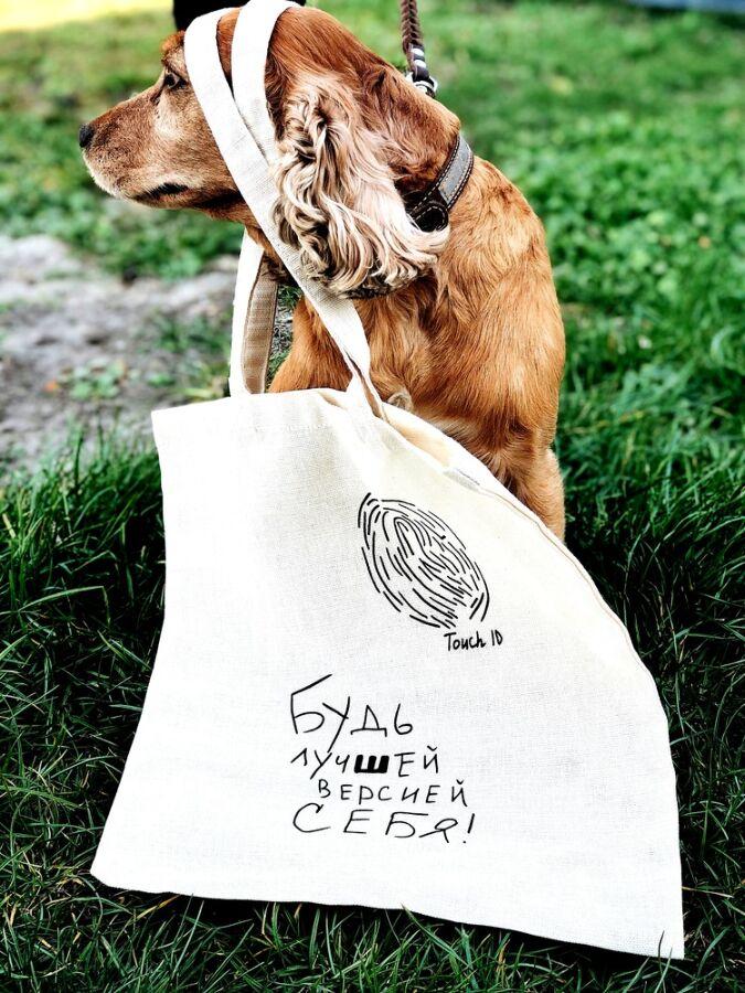 Оригинальная белая базовая экосумка шоппер торба с принтом рисунком