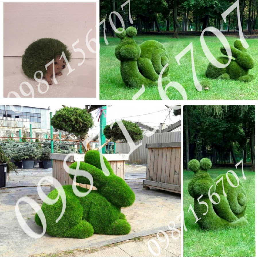Топиари. Садовые фигуры. Скульптура для сада. Газон. Ландшафтный дизай
