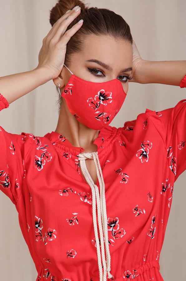 Многоразовая защитная маска с карманом