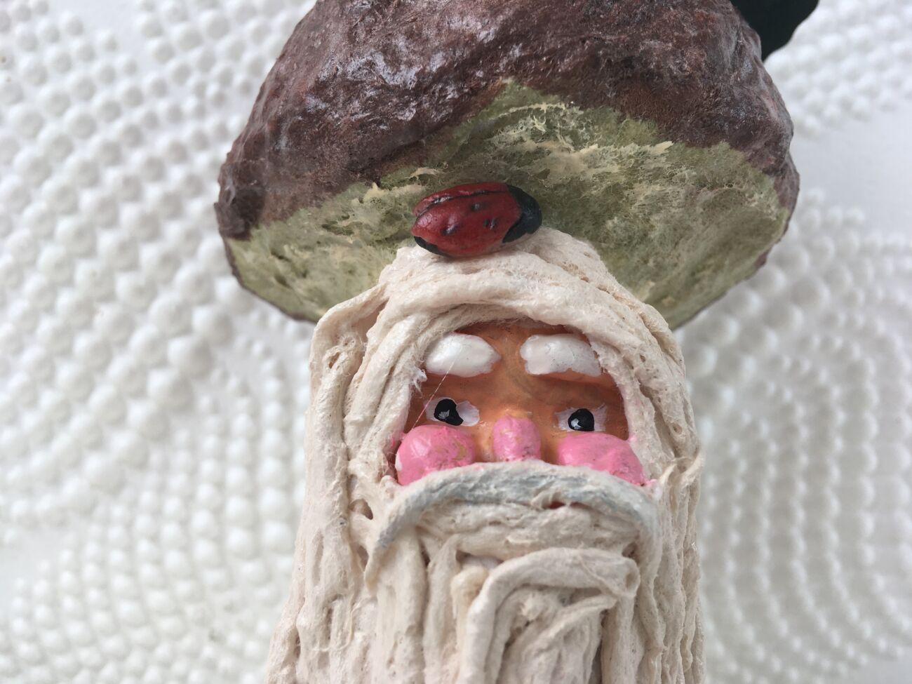 Ватная новогодняя игрушка Лесовичек-боровичек